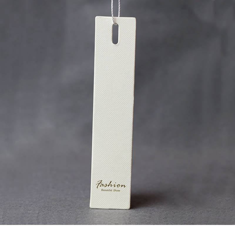 Classic high quality custom paper card swing tag hand tag garment tag design