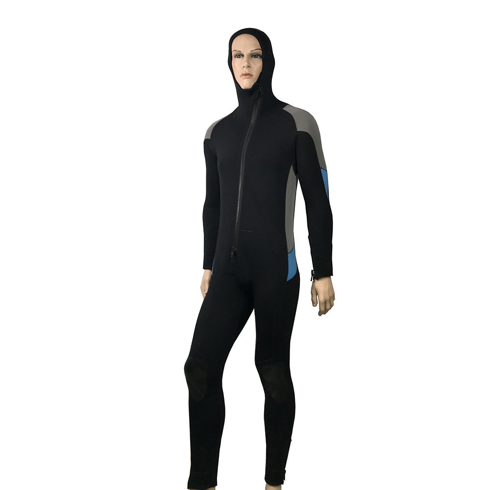 5mm High quality warm men wetsuit neoprene fabric diving suit