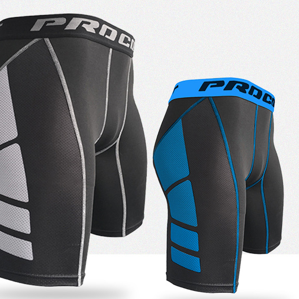 Wholesale Gym Shorts Custom Logo Compression Tights Training Sexy Men Sport Shorts