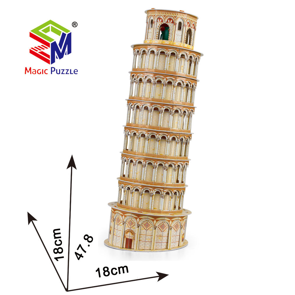 Leaning Tower of Pisa Italy Architectural Models 3D Paper Cardboard Jigsaw Puzzle