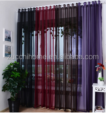 100% Polyester terylene solid organza white sheer curtain plain voile fabric for curtain