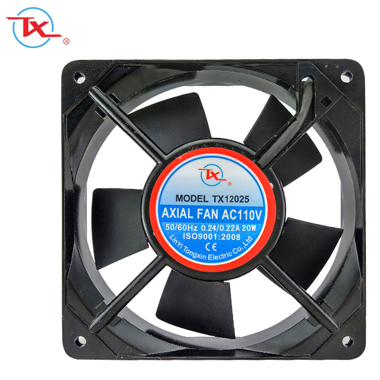 Best quality 120mm ac fan 220v 12025 Plastic Blade/Aluminum Frame ball bearing ac axial fan