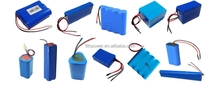 3.7v 18650 lithium rechargeable battery pack/cells capacity and size can be customized