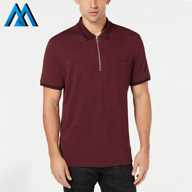 Zipper Cotton Tops Spandex Customize T-shirt Underwear No Logo Shirts Polo-shirt Slim Fit Shirt Tshirts Polo Shorts For Men