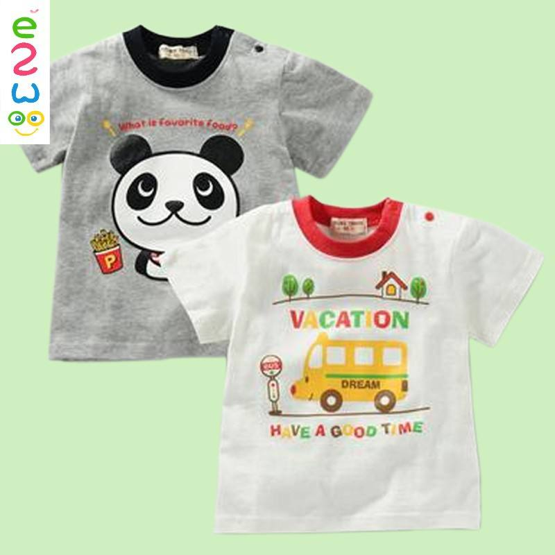 2017 Baby CLothes New Design Korean Cartoon Printed Baby T Shirts