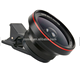 Universal clip cell phone camera lens smartphone lens wide angle macro fisheye zoom camera lens kit for mobile phone