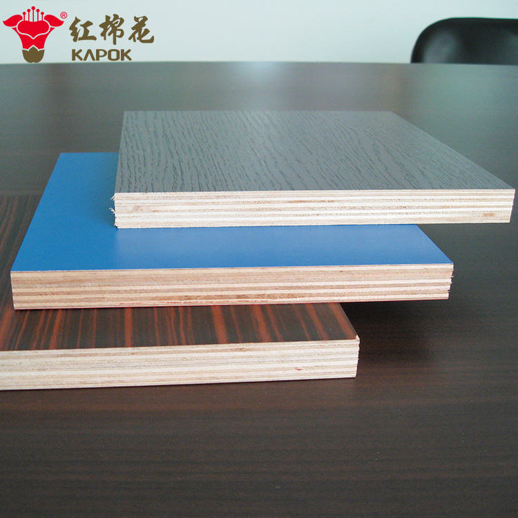 18mm melamine plywood panel with red cherry wood grain design