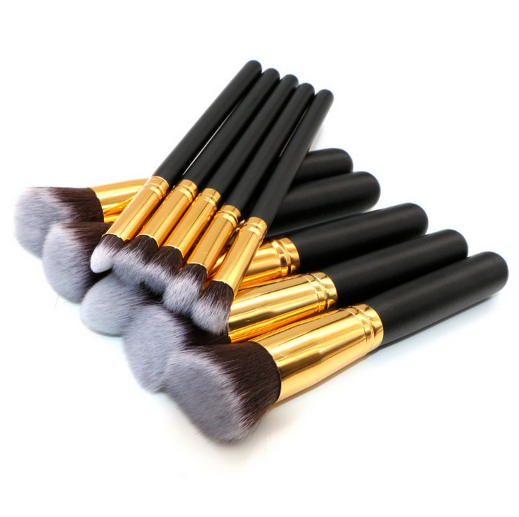 10 PCS A SET OF silicone makeup brush cleaner large concealer Brushes and fan brow brushes