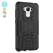 Popular shockproof stand hybrid tpu case for asus zenfone 3 max back cover 2 in 1