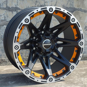 F80168 16 17 inch 9.0j 10j ET-45 to -10 5X127 5X150 6X139.7 71.56 110 black good quality alloy wheels modified new design models