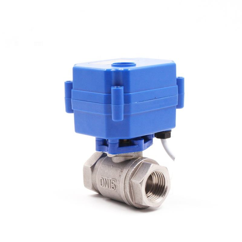 CWX-15N stainless steel brass BSP NPT motorized flow control valve 12V electric actuator ball valve 12v 24v 110v 220v