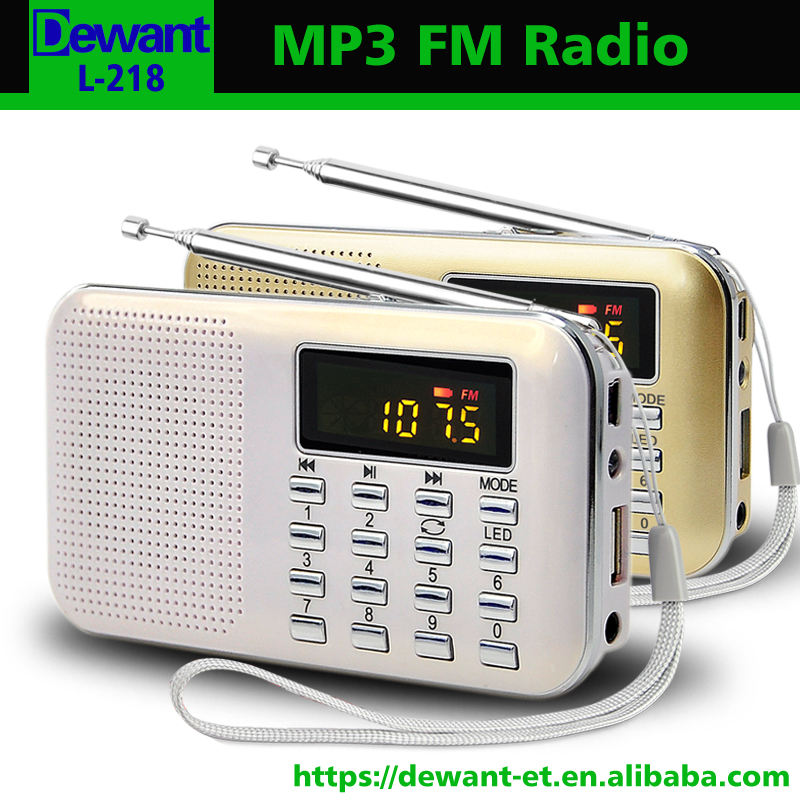 L-218 FM radio portable mp3 player, usb mp3 player with speaker