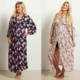 Womens Clothes 2017 Homewear 100% Rayon Floral Delivery / Nursing Long Maxi Maternity Robe Womens Printed Nightgown