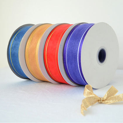 10mm Dyeing Color Wholesale Nylon Soft Sheer Wired Edged Organza Ribbon in Roll