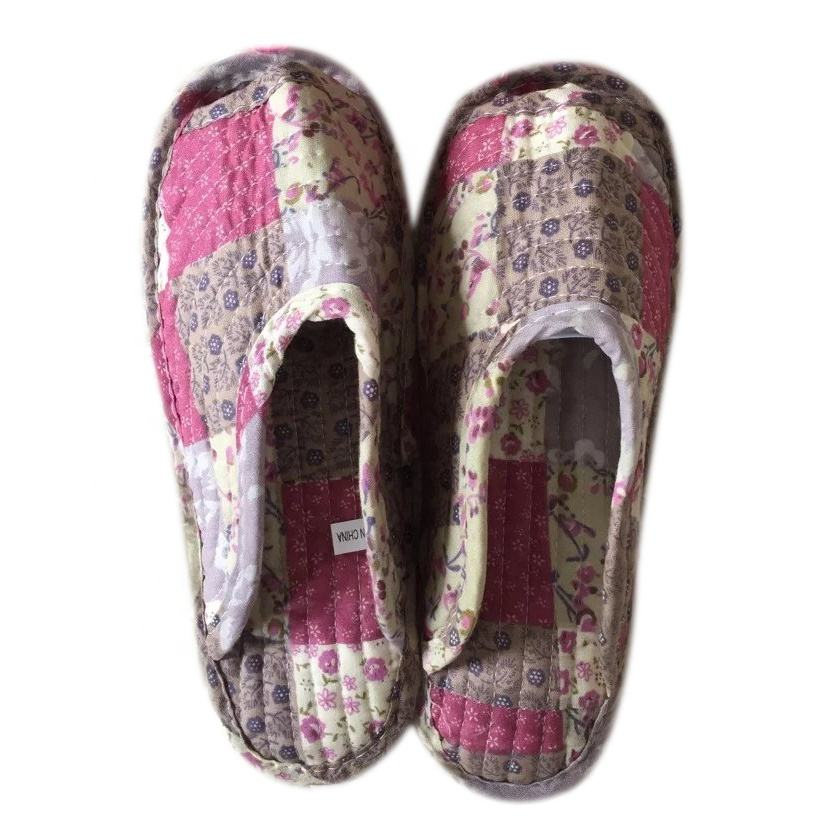 100% cotton patchwork client printing slipper