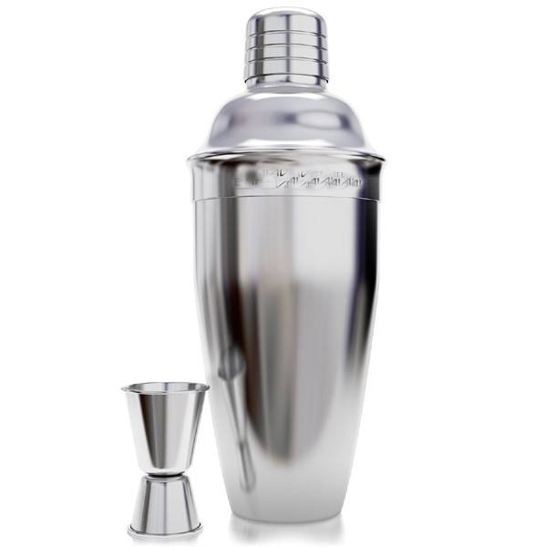 Home Bar Set Stainless Steel Silver Double Jigger Cocktail Shaker Set