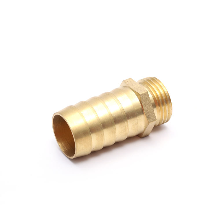 "Low Price 1/8""x6mm - 3/4""x27mm Forged Brass Color Male Nozzle Hose Pneumatic Fitting"