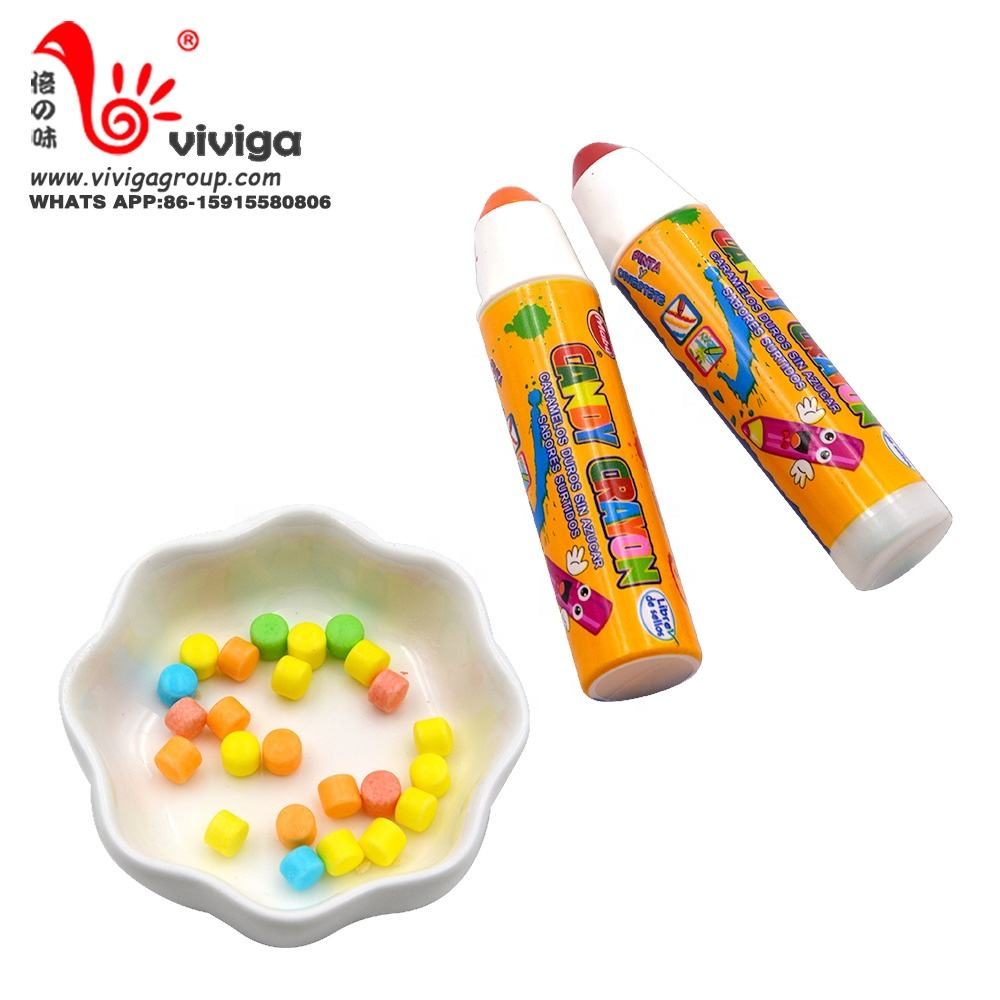 halal tablet candy confectionery factory with crayon shape