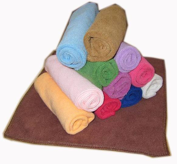 800Gsm Soft Microfiber Round Terry Hand Towel