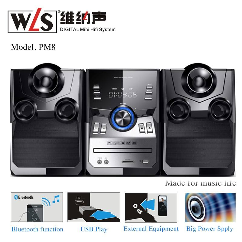 WLS PM8 2.0 Hi Fi Music Player with CE CB RoHs VDE Certificate for home used audio