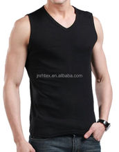 Custom 100% Combed Cotton BlanK Men's Sleeveless V Neck T shirts