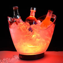 Cheap plastic drinking led ice bucket tin beer bottle alcohol champagne ice bucket