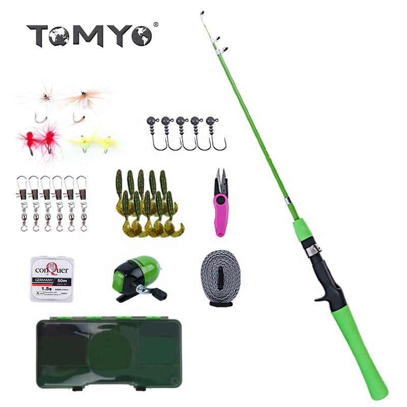 ToMyo Youth Kids Fishing Pole,Portable Telescopic Fishing Rod and Reel Combo Full Kit Set Fishing Gear for Kids