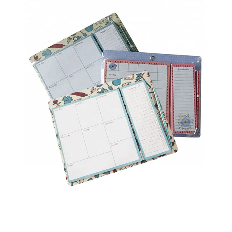Customized high quality board with shopping list and pencil weekly plan notepad