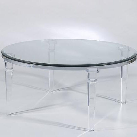 FANTASIA DINETTE TABLE Clear Transparent Acrylic Material Shown with a 122cm Round Glass Top dining table
