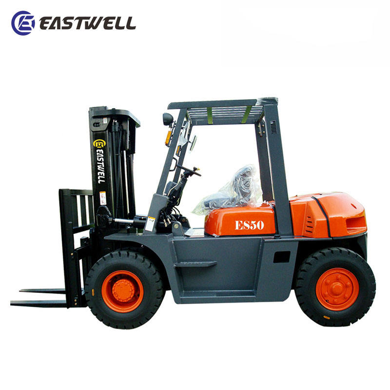 Chinese best price 5000kg reach truck with pallet jack 5 ton diesel forklifts ES50T for sale