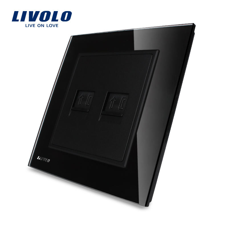 Livolo UK Standard Smart Wall Socket Wall Telephone Socket International Wall Socket VL-W292T-11