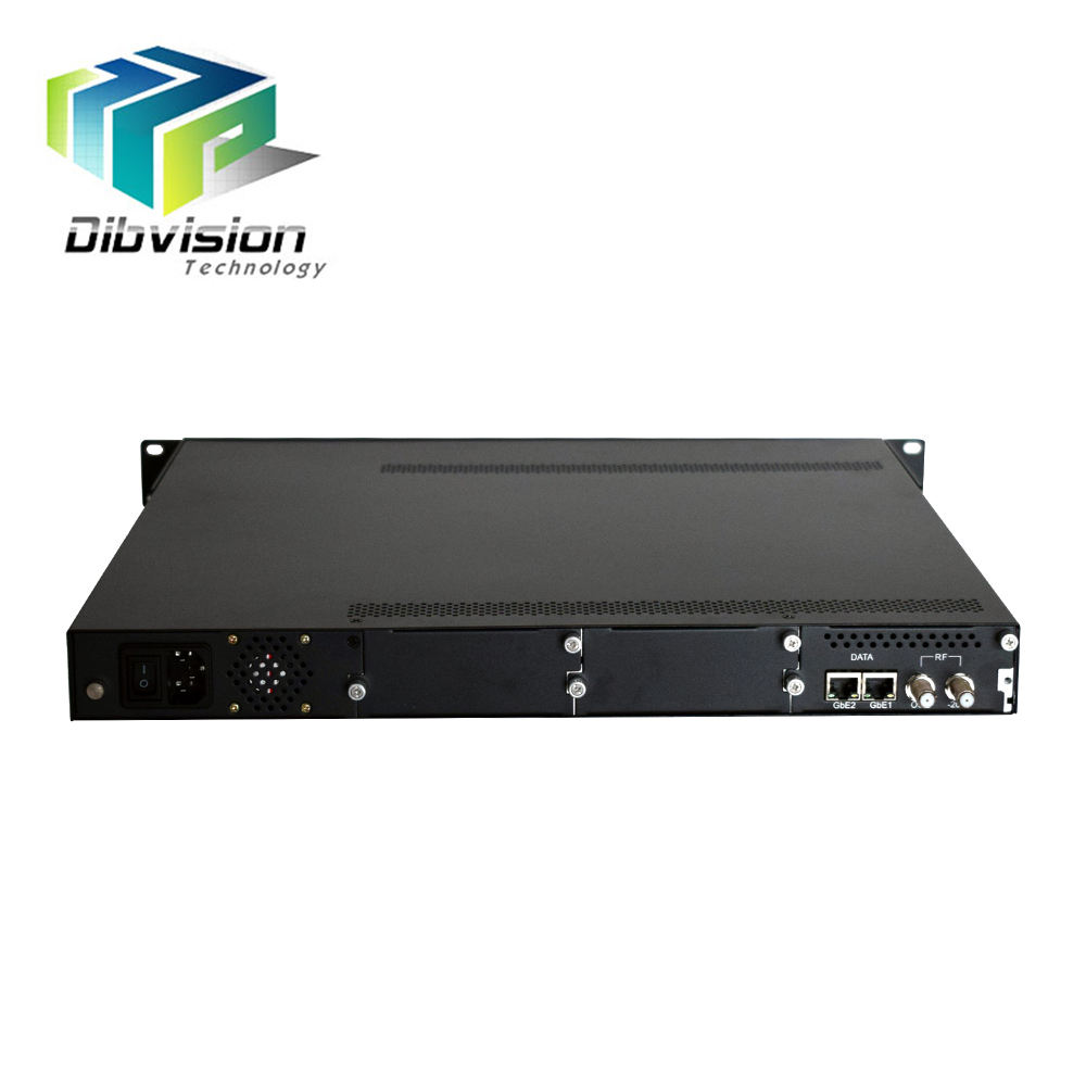 2 ip input over Ethernet RJ45 om 24 qam catv modulator 4 cas