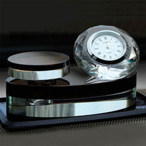 Business gifts crystal clock souvenir for wholesale