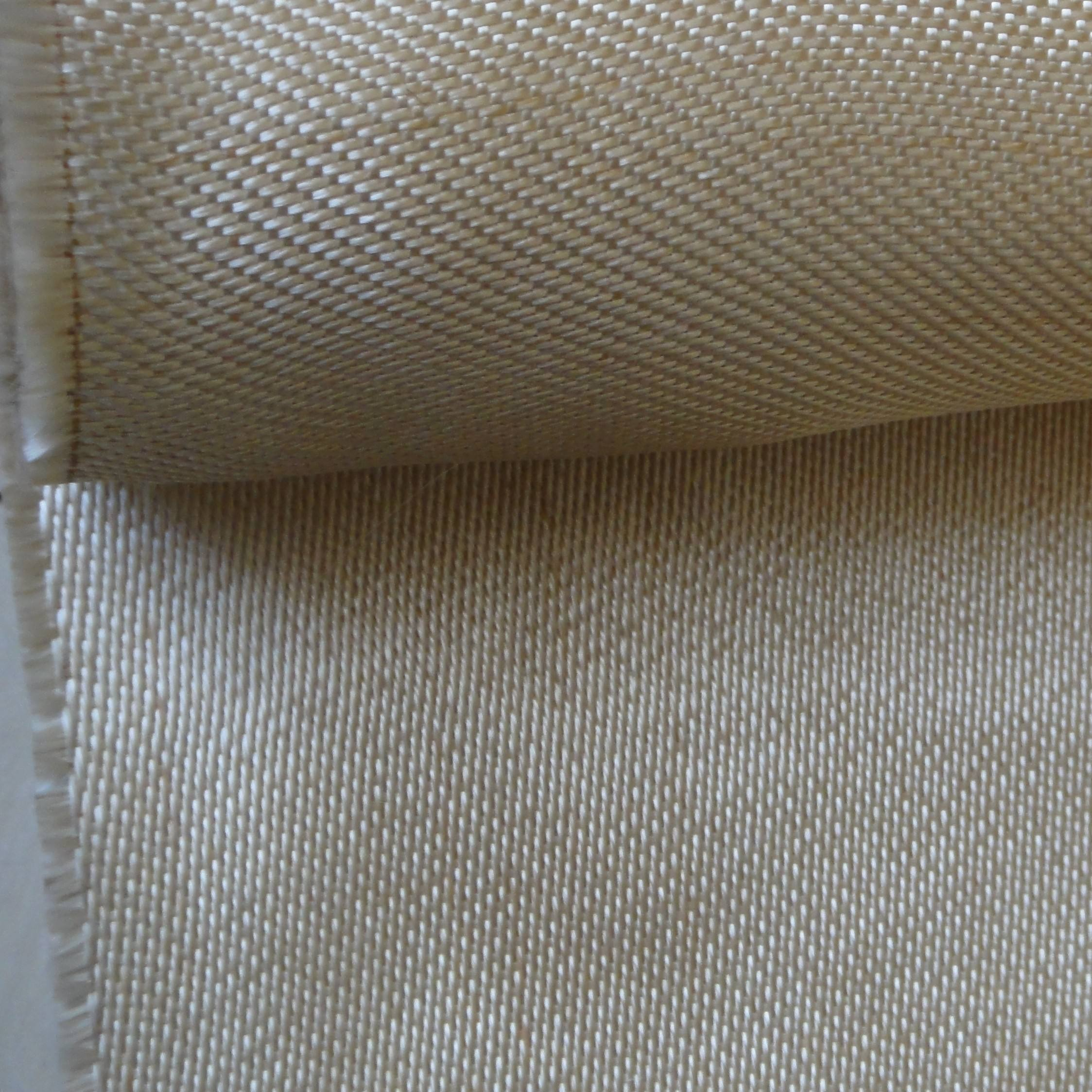 1mm 840g/m2 satin weave gold color fire proof blanket heat treated fiberglass fabric