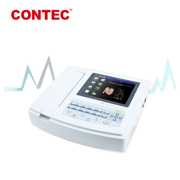 Electrocardiograma Monitor Touch Screen Ecg Scan Ecg 1200G Contec
