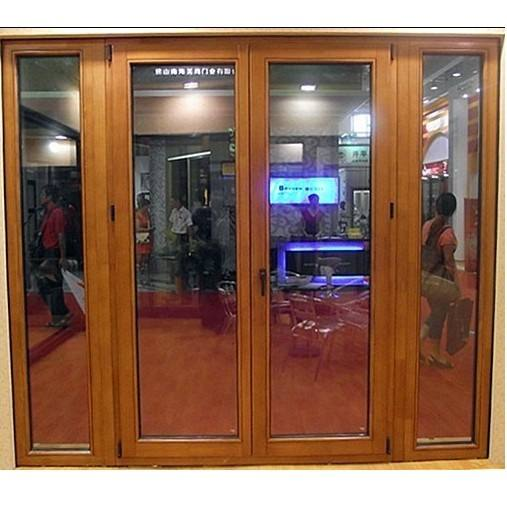 Oak Solid Wood Glass Door With Double Glazing.