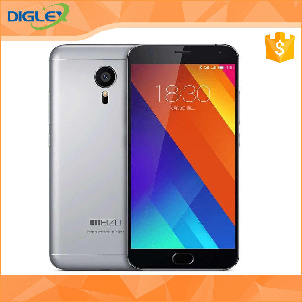 IN STOCK MEIZU MX5 Original MEIZU MX5 5.5 inch Capacitive Screen Mobile Phone Helio X10 Turbo Octa Core 2.2GHz ROM 64GB RAM3GB