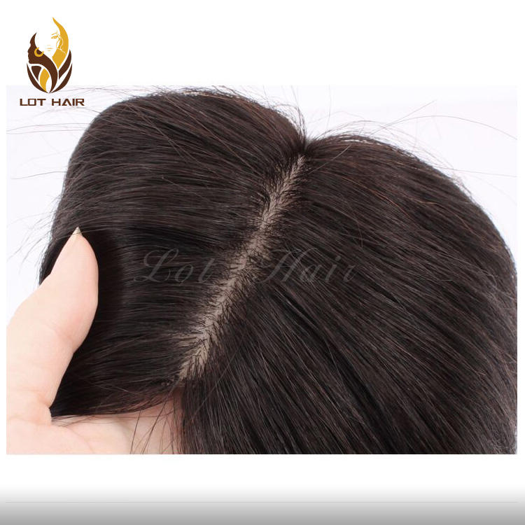 2020 European Virgin Cuticles silk top Human Hair women toupee and toppers