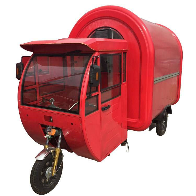 Electric bike food cart mobile street food truck for sale