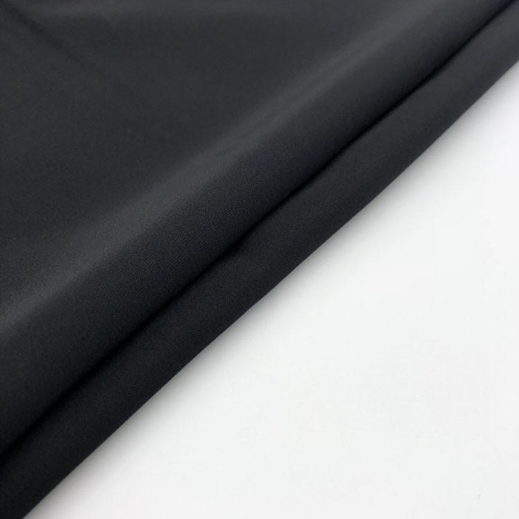 100% Polyester Nida Material Kaftan Formal Black Abaya Fabric
