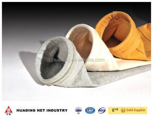 High temperature filter bag for cement industry