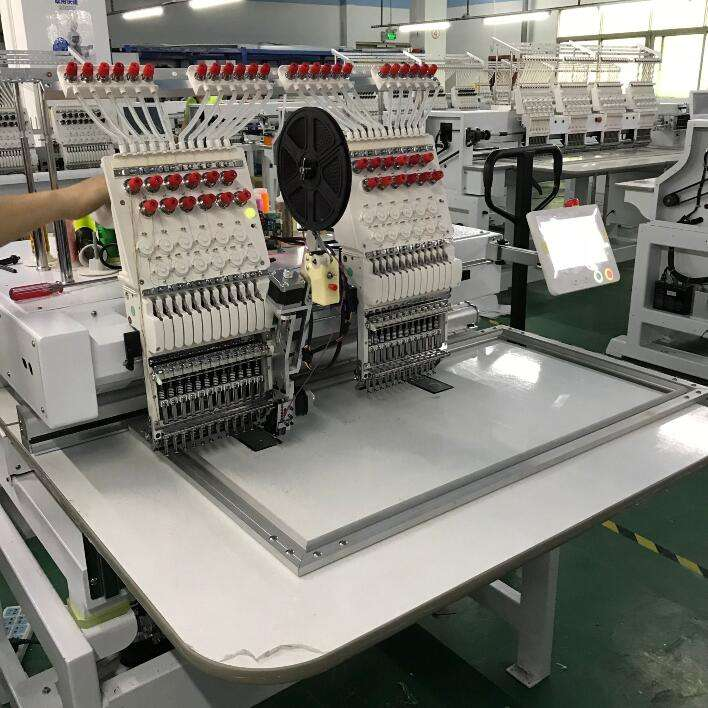 Commercial 2 head embroidery machine with good price,embroidery machine price Q400