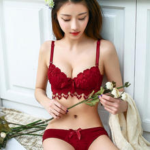 2019 wholesale bra set red sexy bra and panty new design 114687