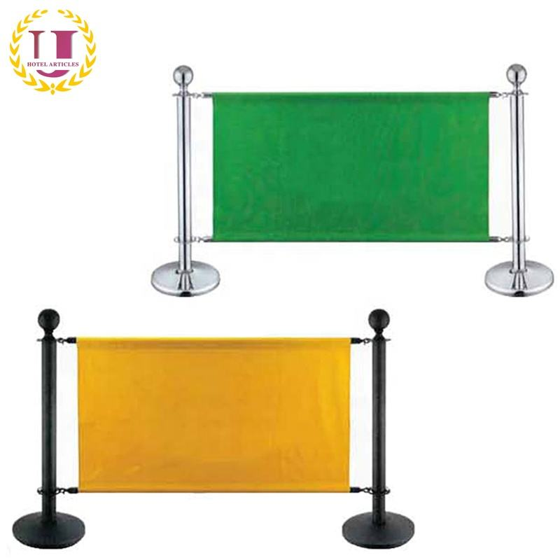 Outdoor Cafe Banner Partition Stanchion Barrier
