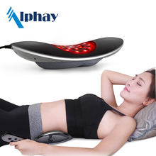 physiotherapy lumbar traction spinal heating and massage decompression device