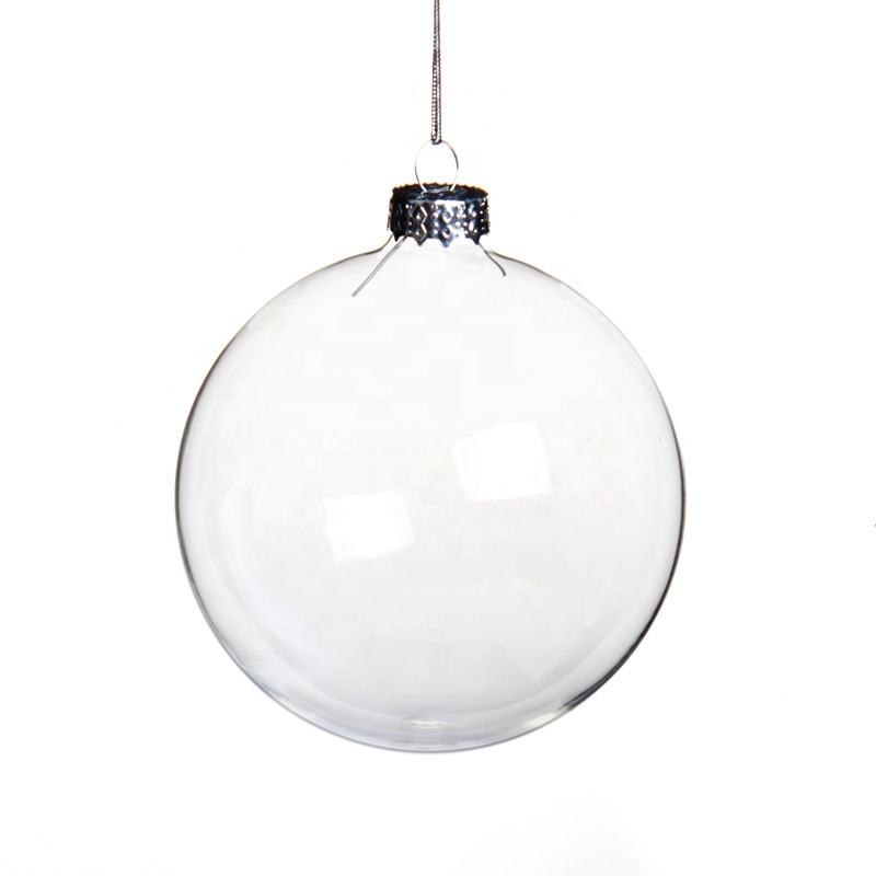 100 Wholesale Clear Christmas Glass Ornamental Ball supplier