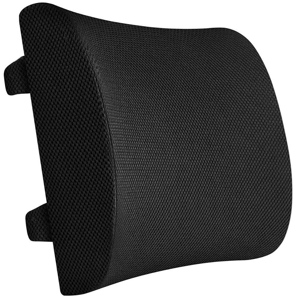 100% Memory Foam Comfort Back Cushion, Non Slip Lumbar Support Pillow for Office Car and Chair