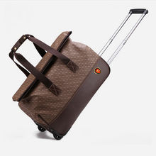 Hand carry on wheeled market travel luggage duffle makeup trolley bags