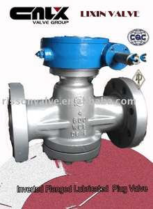 Inverted Pressure Balance Flanged Lubricated Plug Valve