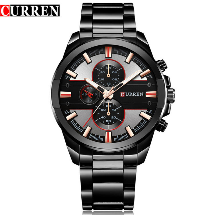 CURREN 8274 New Luxury Brand Men Fashion Dress Quartz Business Wristwatch Steel Watch Men